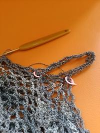 編み進みました