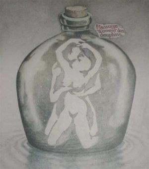 瓶の中に何が見えますか?