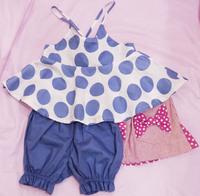 ベビーキッズ 夏の キャミ、スカート、スタイ、フリー新作入荷&雪見だいふく♪