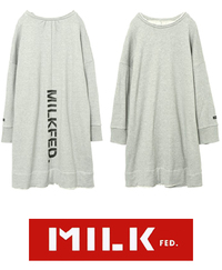 MILKFED 冬 新作  バック ステンシル ロゴ ドレス入荷!&にゅう麺♪