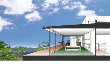 眺望を楽しむ家