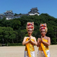 和歌山城でバリ舞踊!