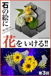 絵に描いた[幻の石]に▶︎花をいける 第3回!!