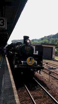 9月10日津和野駅にてSLやまぐち号