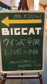 9/23(日)ウインズ平阪ライブIN大阪