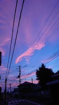 マジックアワーの空の色
