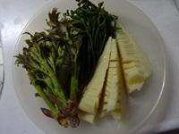 山菜三種で