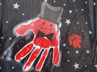 季節の手形アート~ハロウィン~