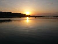 有田川の落陽・・・
