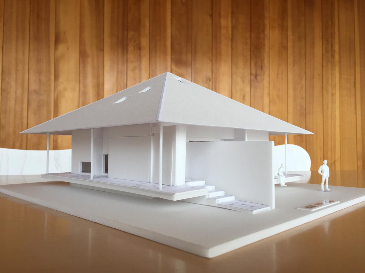建築模型 きのこのお家