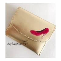ミニ財布にハイヒールDECO