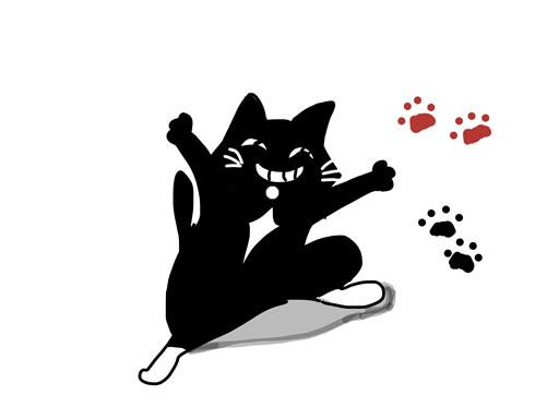 元気ハツラツ黒猫<ソックス
