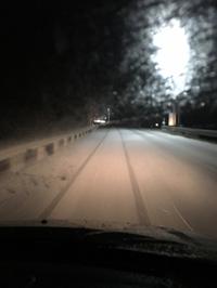 昨日の夜の雪…♬