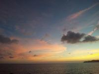 海沿いの夕日。