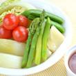 春の蒸し野菜