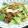 キャベツたっぷり野菜炒め