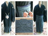 着付け教室は紋付袴にチャレンジ