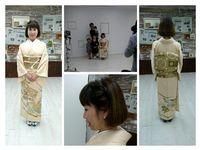 色留袖で入園入学記念撮影