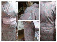 お母さまの桜色の小紋でレッスン