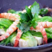 海老と豆腐のゆずポン蒸し