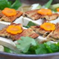 ごまだれ風味のアナゴ豆腐鍋