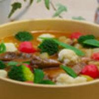 牛肉と春野菜のカレートマト煮