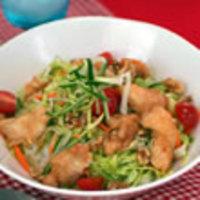 ジュリエンヌ野菜と鶏の梅丼