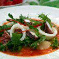 野菜と魚介のトマトビネグレット