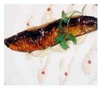 サンマの燻製とジャガ芋のサラダ