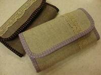 パープル系の長財布