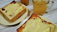 食パンで朝パン