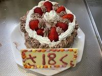 最後の誕生日ケーキ