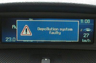 最後のDepollution System faulty ?