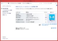 Windows エクスペリエンス インデックス