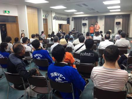 8月1日(土)うるわし館にてかいなん夢風鈴まつり出発式&イベントが開催されました