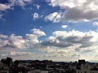 今日の天気、空