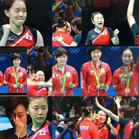 卓球女子団体銅メダル
