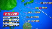 2週連続台風 2017/10/29 19:55:46