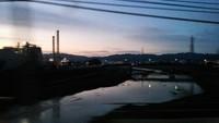 南海電車の男里川の橋