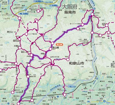 山中渓→六十谷