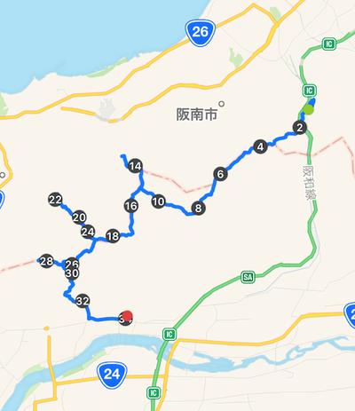 山中渓駅→六十谷駅