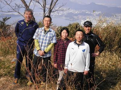 名草山で記念撮影