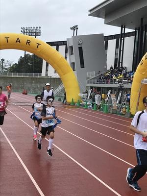 パンダリレーマラソン参加中。(U11)