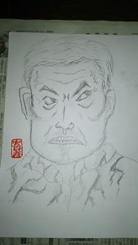 容疑者の似顔絵描きました