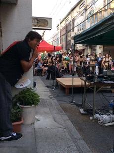 昨日はじゃんじゃん横丁祭りでライブでした♪