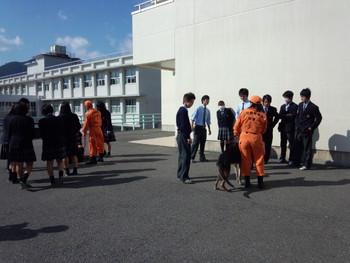 2012年11月12日新翔高校「熊野と防災」