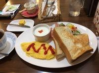 今日のモーニング(cafe Bellamente)