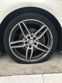 タイヤがパンク!!