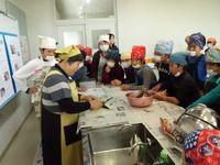 おさかなママさん干物作り教室(野口小学校編)