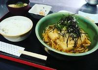 鰆竜田と揚げ出し豆腐の茸あんかけ